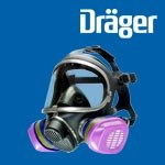 Dräger X-plore 5500 Full-Face Mask Respirator and P100 Filters